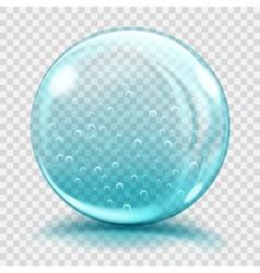 Big light blue glass sphere vector