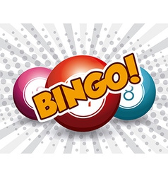 Bingo design vector image