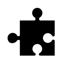black silhouette element game in the puzzle vector image