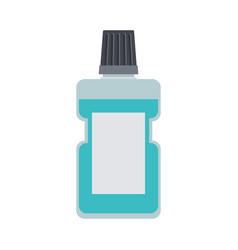 bottle of mouthwash colorful silhouette vector image