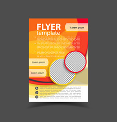 brochure design flyer template editable a4 vector image