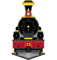 Cartoon steam train vector