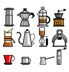 Coffee manual brewers vector