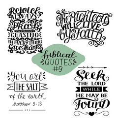 Collection 4 with bible verse seek lord vector