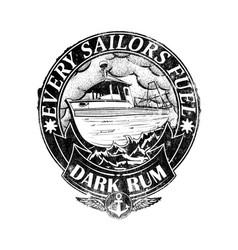 Dark rum vector