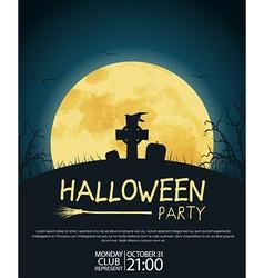 Design posters Halloween parties vector image