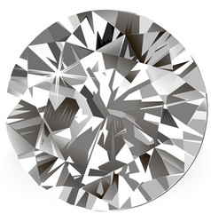 diamond top view vector image