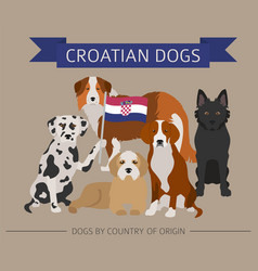 Dogs by country of origin croatian dog breeds vector