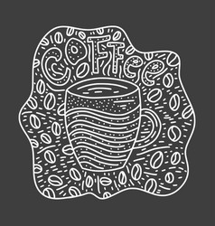doodle coffee cup vector image
