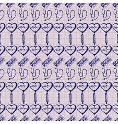 doodle seamless Medicine vector image
