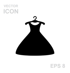 Dress on a hanger vector image