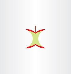 Eaten apple logo clipart vector