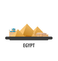egypt travel location vacation or trip and vector image
