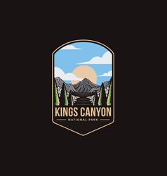 Emblem patch logo kings canyon national park vector