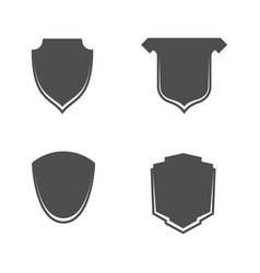 empty shields icons with place for text vector image