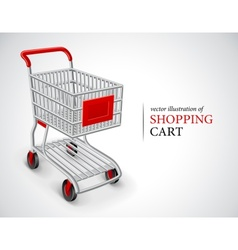 Empty shopping cart vector