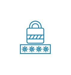 entering password linear icon concept entering vector image