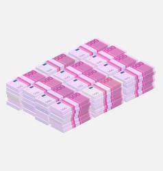 euros money stack vector image vector image