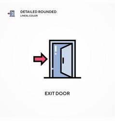 Exit door icon modern vector