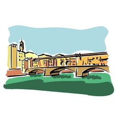Florence Ponte Vecchio vector image