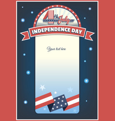 Fourth of july card vector