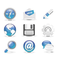 glossy icons set vector image