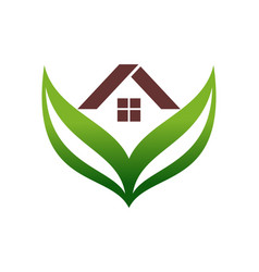 green home residence estate logo icon vector image