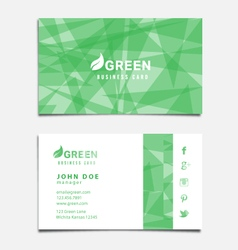 Green Themed Business Card Template vector