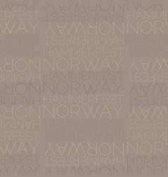 Hammerfest norway seamless pattern vector
