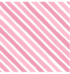 hand drawn diagonal grunge stripes of pink color vector image