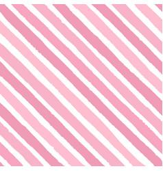 Hand drawn diagonal grunge stripes pink color vector