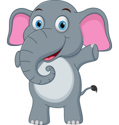 Happy baby elephant cartoon vector