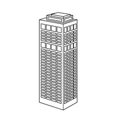 High-rise building of a skyscraper skyscraper vector