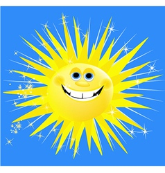 Holiday sun vector image