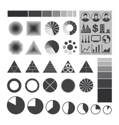infographic icons element charts and graphs vector image