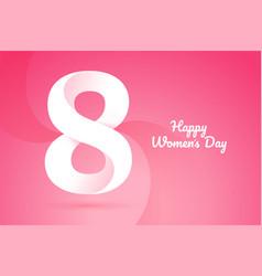 International women s day poster 8 march 3d vector