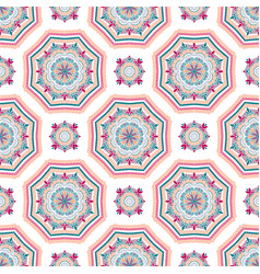intricate mandala pattern tile background vector image