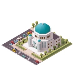 Isometric synagogue vector
