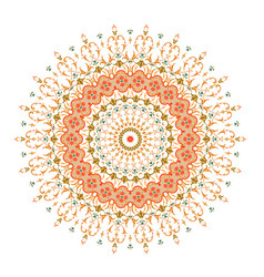 Mandala ornament background round vintage vector