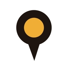 map pointer with circle interior yellow vector image