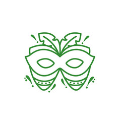Mask with feathers carnival icon vector