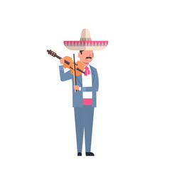Mexican man musician in traditional costume and vector
