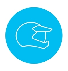 Motorcycle helmet line icon vector image