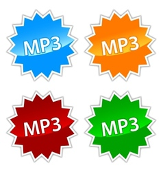 Mp3 icons set vector image
