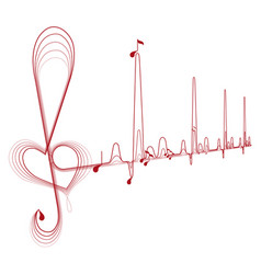 music pulse vector image