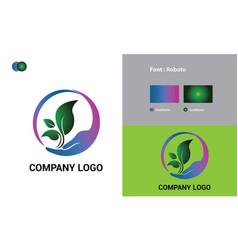 Natural logo template design vector