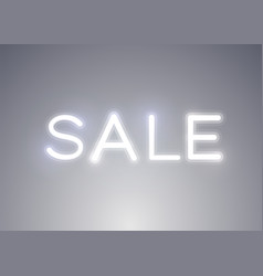 neon sign word sale on bright background vector image