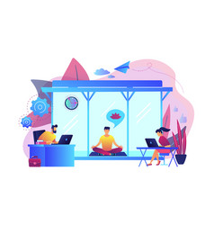 office meditation booth concept vector image