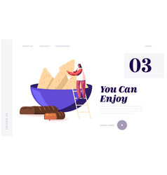 people eating snack and fast food unhealthy vector image