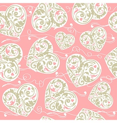 Pink and beige pattern vector image